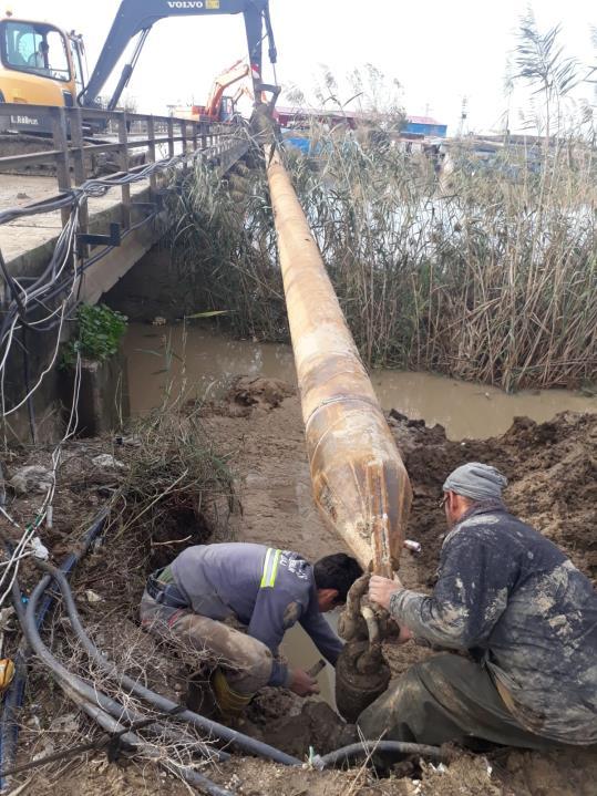Adana Aski 100 M 400MM Çelik Boru ile  Karayolu Geçişi